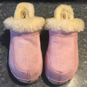 UGG Pink Leather/Suede & Sheepskin Kalie Mule/Clog